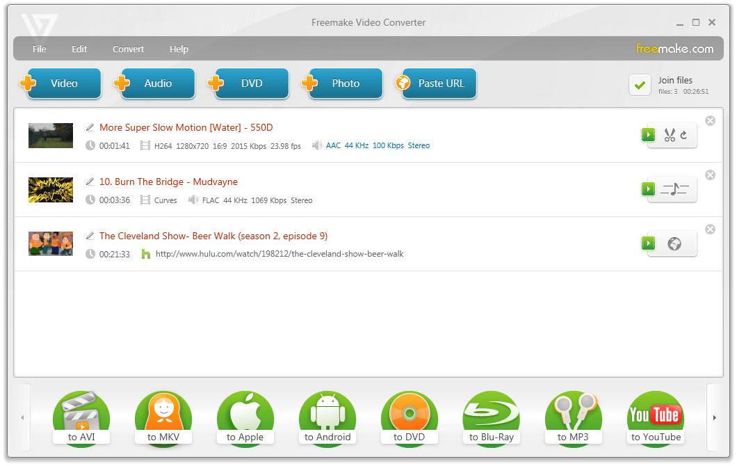 Click to view Freemake Video Converter 4.1.3 screenshot