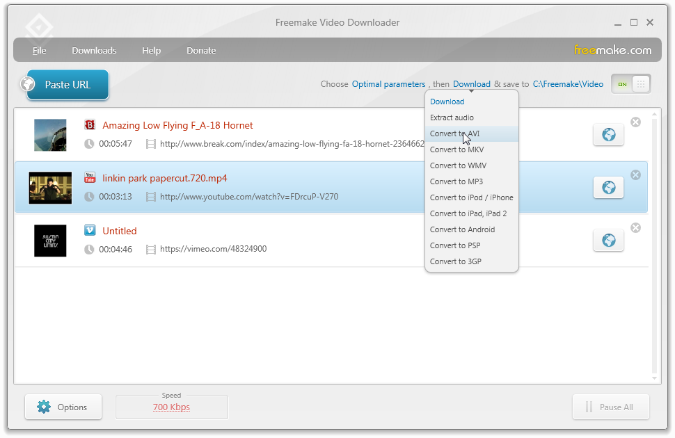 Click to view Freemake Video Downloader 3.7.0 screenshot