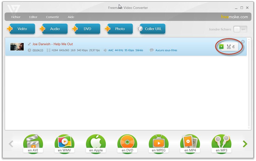 Convertir votre vidos prfrs de rm rmvb avi mpeg divx wmv mov mp4 ipod zune format mp3 lizenztyp - Logiciel couper video mac ...